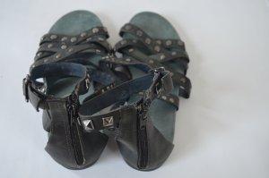 Tamaris Romeinse sandalen antraciet Leer