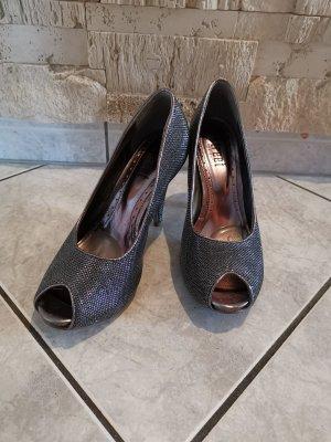 Graue glitter high-heels