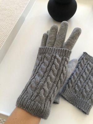 Gevoerde handschoenen grijs-donkergrijs