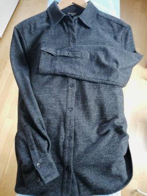 Massimo Dutti Oversized blouse antraciet