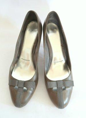 graue High Heels aus Leder von Mexx, Gr. 41