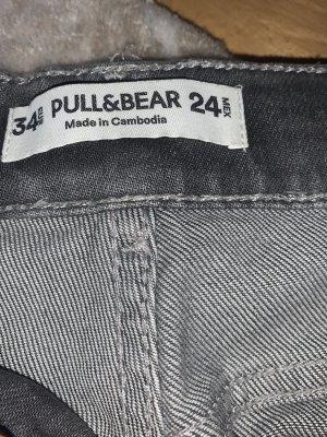 Pull & Bear Pantalone a vita alta grigio-grigio scuro