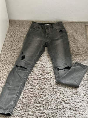 Graue High Waist Jeans