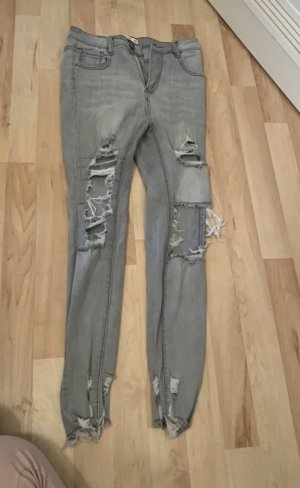 Laulia Jeans a vita alta argento