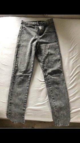 Unbekannter designer Jeans taille haute gris