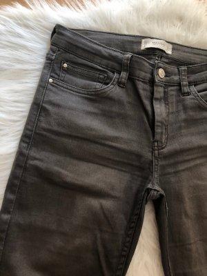 Mango Pantalón de tubo gris-gris oscuro