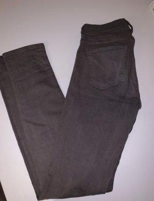 Citizens of Humanity pantalón de cintura baja gris