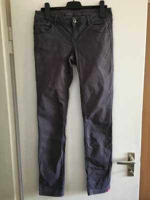 Edc Esprit Pantalon cinq poches gris anthracite coton