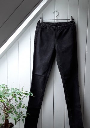 Pieces Pantalón de tubo gris oscuro-gris antracita