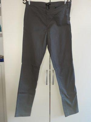 H&M Hoge taille broek grijs-donkergrijs