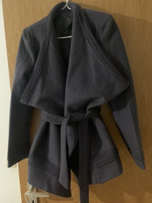 ohne Etikett Wraparound Jacket dark grey