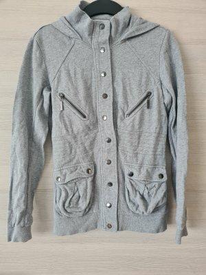 Tally Weijl Sweat Jacket light grey-grey