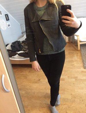 Amisu Short Jacket dark grey-bronze-colored