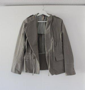 Graue Jacke Übergangsjacke von Manila Grace Größe 36
