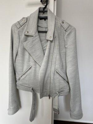 Zara Biker Jacket light grey polyester