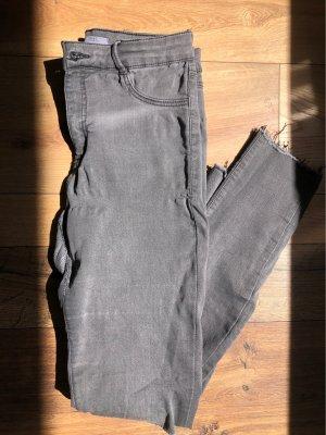 Zara Pantalon strech gris
