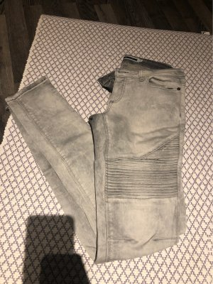 Noisy May Low Rise Jeans light grey