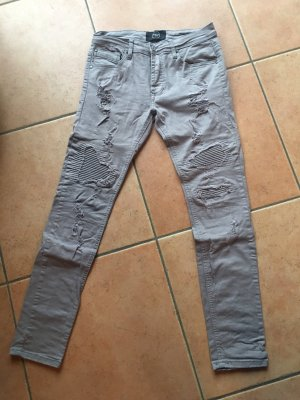 graue Jeans im Used Look von Project X Paris
