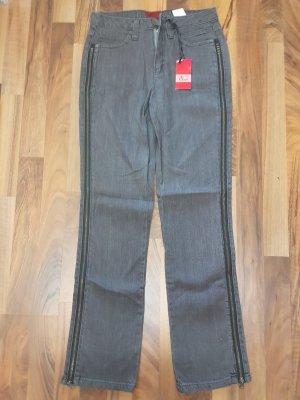 graue Jeans mit Reißverschluss an der seite NEU mit Etikett Gr.34