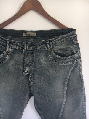 Jeans a 7/8 grigio scuro-antracite