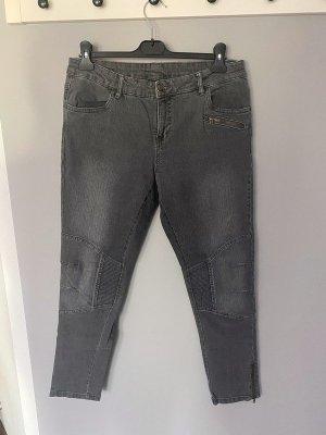 Esmara Jeans de moto argenté-gris coton