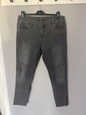 Esmara Biker Jeans silver-colored-grey cotton