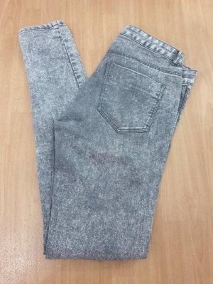 H&M Divided Stretch jeans lichtgrijs-grijs