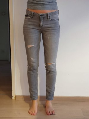 Zara Basic Jeans cigarette multicolore