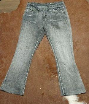 Authentic Style Jeansy ze stretchu szary Bawełna