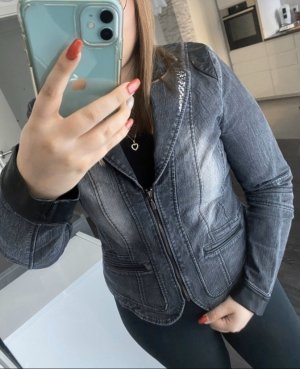 Bexleys Denim Jacket anthracite-light grey denim