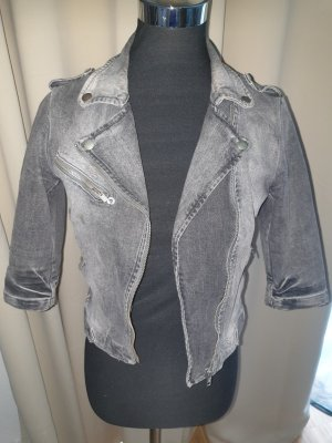 graue Jeansjacke von Zara