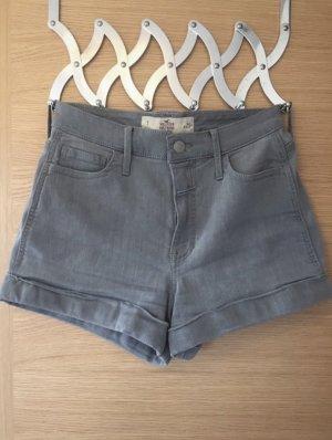 graue Jeansshorts Hollister