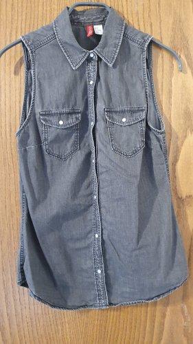 H&M Smanicato jeans grigio-grigio scuro