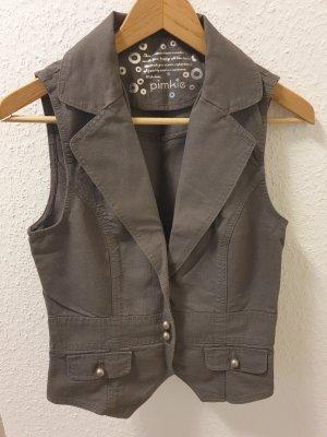 graue Jeansweste