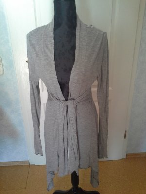 Long Knitted Vest light grey