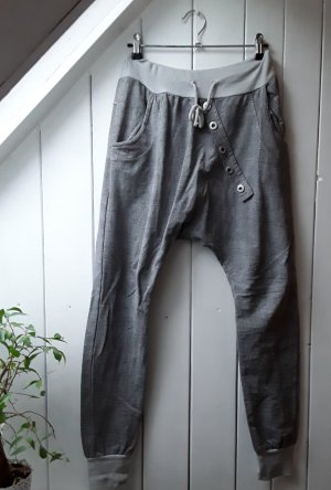 Pantalon large gris clair-gris