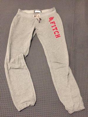 Abercrombie & Fitch Pantalone fitness grigio chiaro-rosso scuro