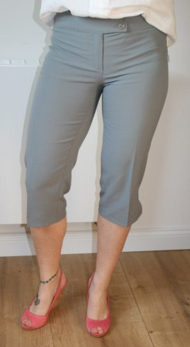 Ana Alcazar Pantalone Capri grigio