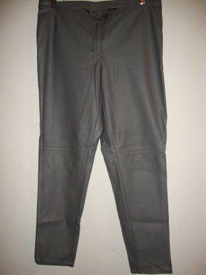 Pantalón de cuero gris oscuro Imitación de cuero