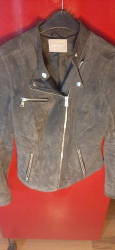 Orsay Faux Leather Jacket grey