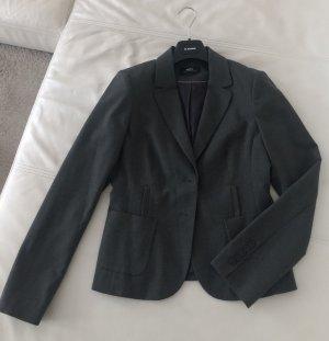 Graue kurz Blazer Jacke Seitentaschen