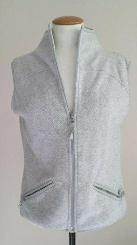 Hennes Collection by H&M Gilet tricoté argenté-gris clair tissu mixte