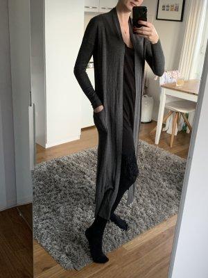 Zara Abrigo de punto gris antracita