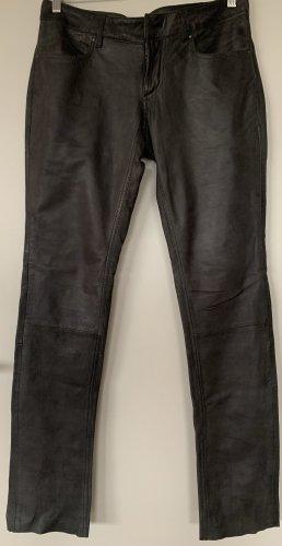 Pantalon en cuir gris cuir