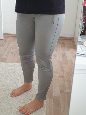 Arma Collection Pantalon en cuir gris clair-gris