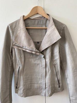 Cigno Nero Leather Jacket light grey