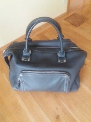 Longchamp Sac à main gris foncé cuir