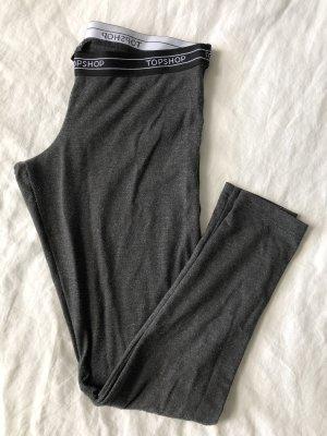 Topshop Legging gris foncé-noir