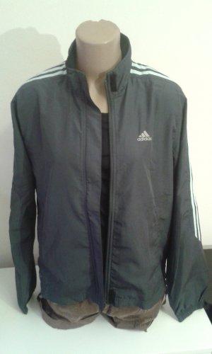 graue leichte Sport Jacke von Adidas Größe 40