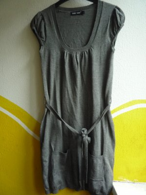 Cardigan lungo smanicato grigio Cotone